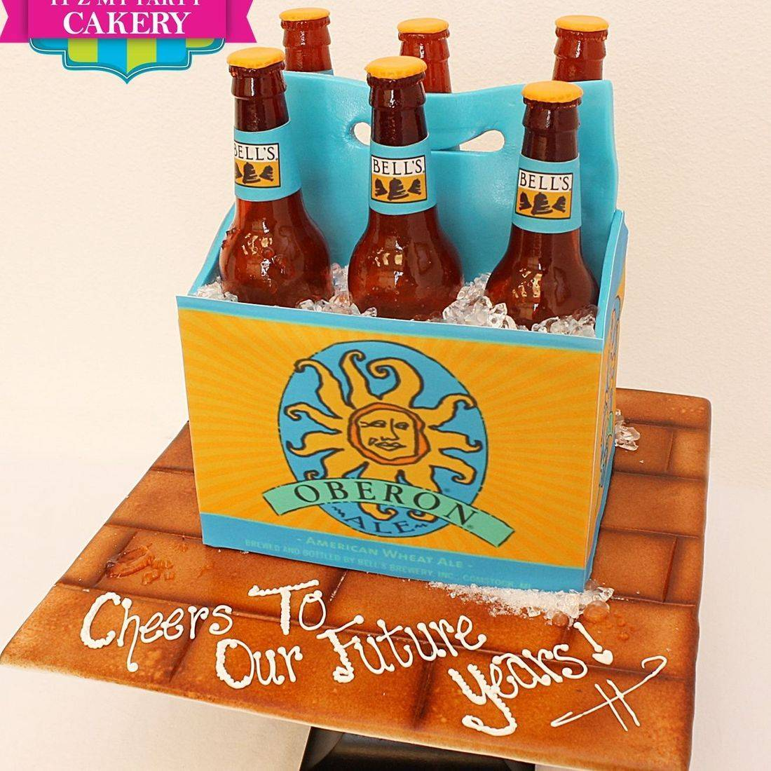 Oberon 6 pk beer Dimensional Cake Milwaukee