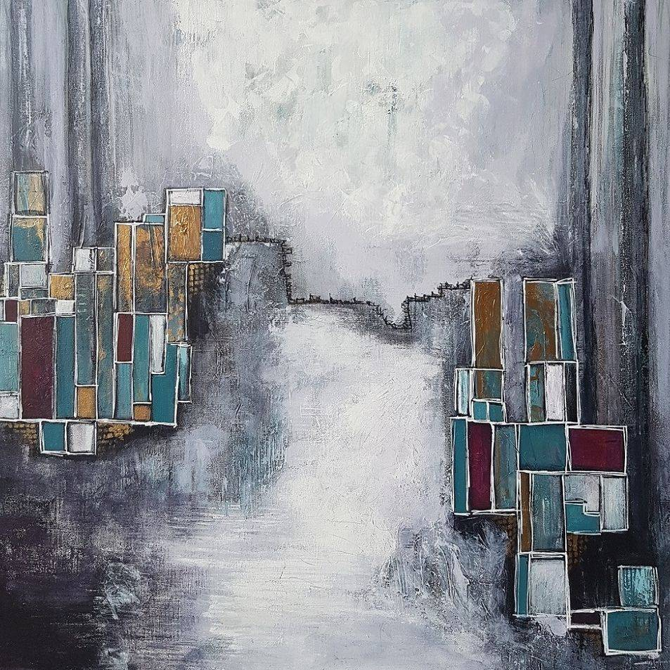 Acrylics Abstract Cityscape painting