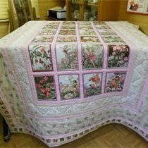 Flower  Fairy Quilt made with Michael Miller prints
