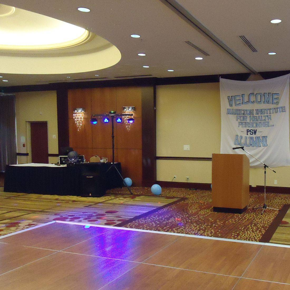Mr. Productions DJ Service at reunion party at the Courtyard Marriott in Hamilton.