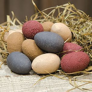 prrimitive americana wooden eggs