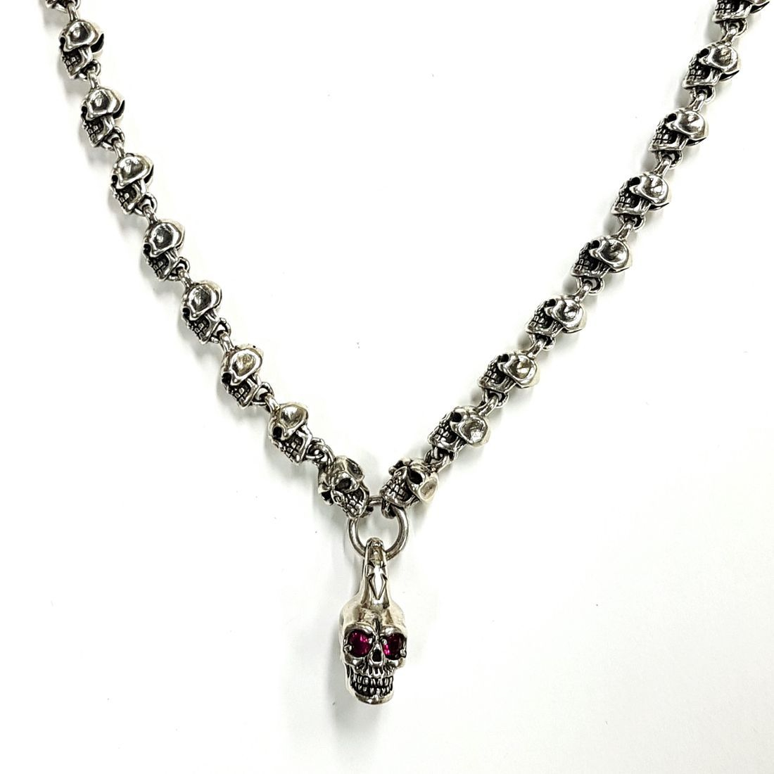 Solid Silver Skull Chain & Pendant  available at Kazbah online and our Leicester City Centre Shop