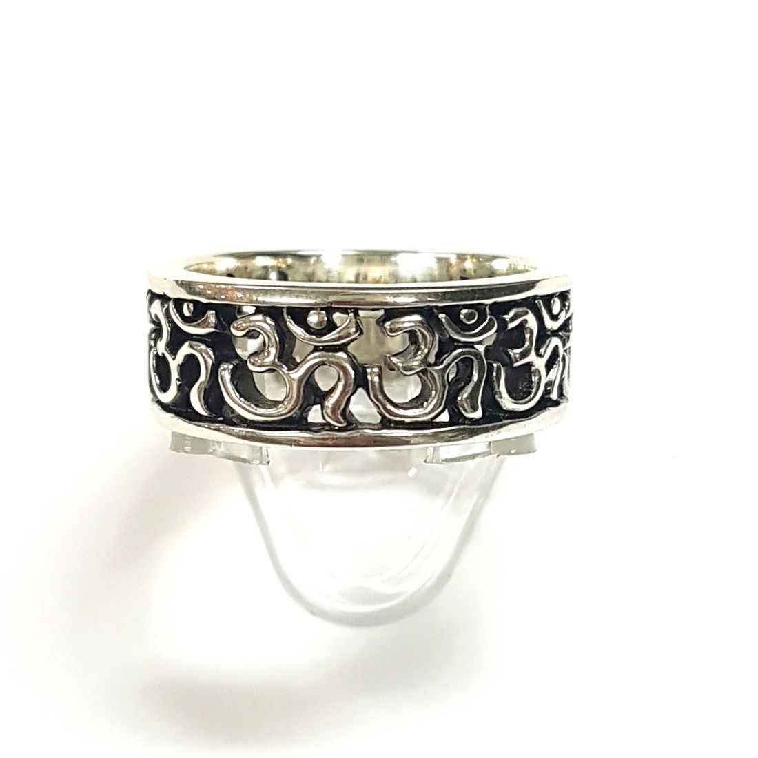 Silver Om Band Ring  available at Kazbah online and our Leicester City Centre shop