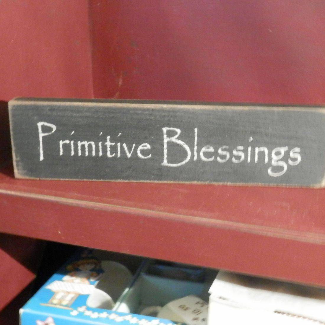 primitive blessings wood block