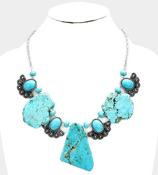necklace, statement jewelry, turquoise