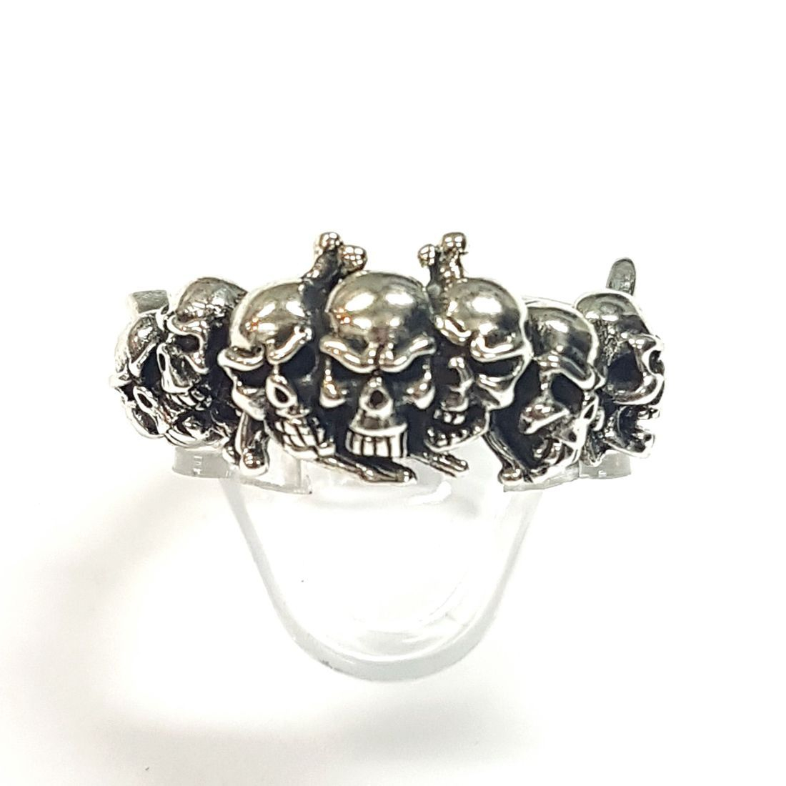 Silver skull ring  available at Kazbah online and our Leicester City Centre shop