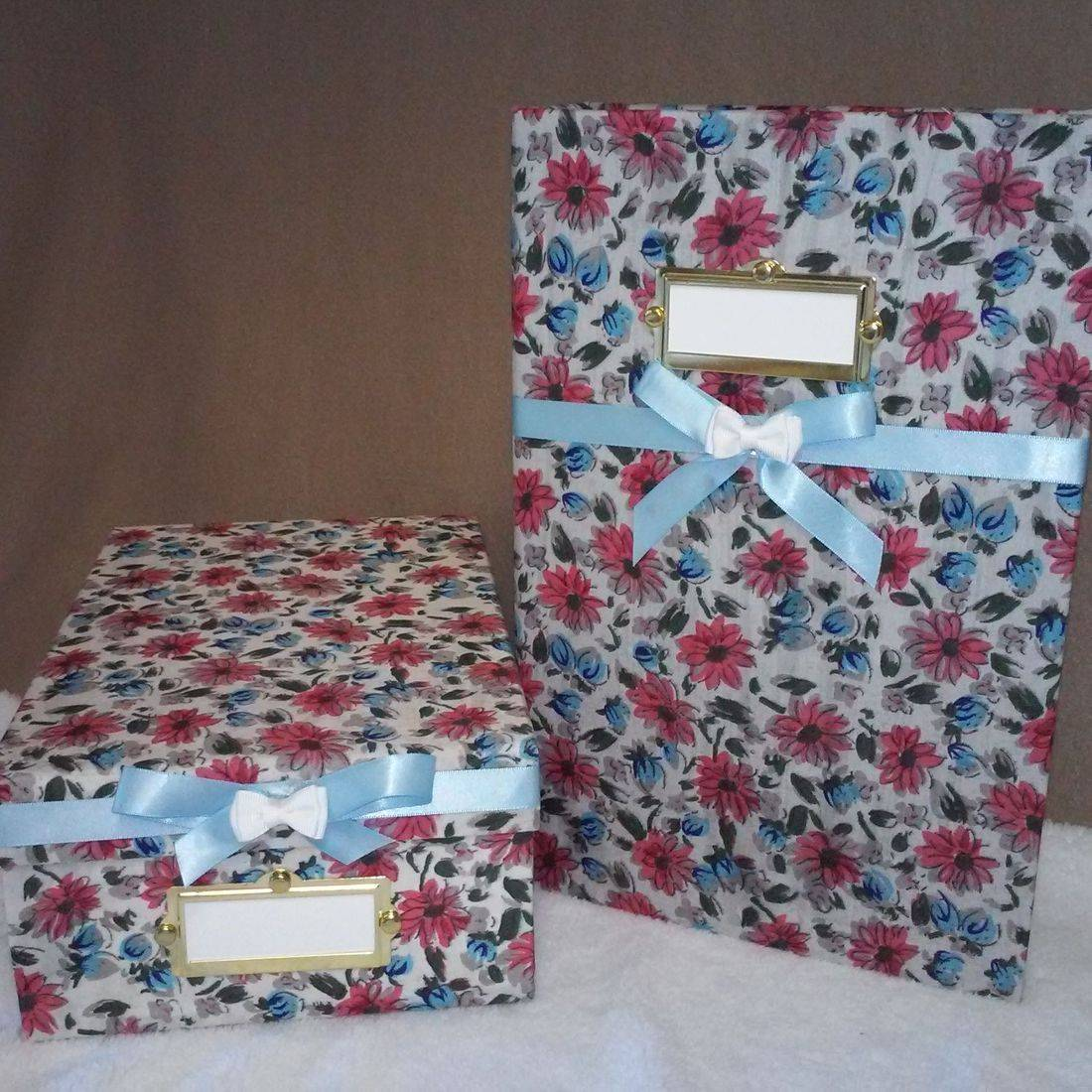 Fabric Covered Photo/Memory Set