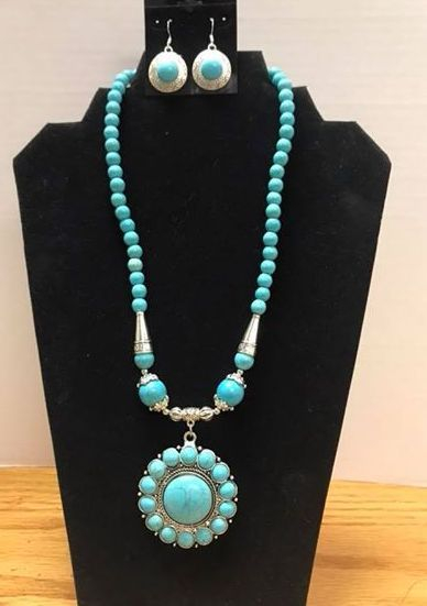 jewelry, necklace, earrings, turquoise