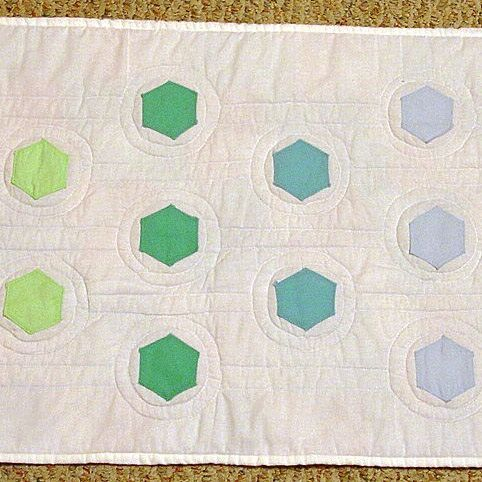quilted hexagon table runner Custom Made