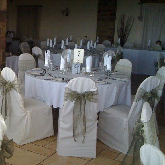 Ivory chair cover hire york