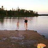 Manitoba fishing, family vacations, cabin rentals, boat rentals, canoe route, Nopiming Provincial Park, walleye, swimming