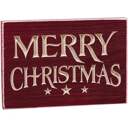 Merry Christmas Engraved Wooden Sign