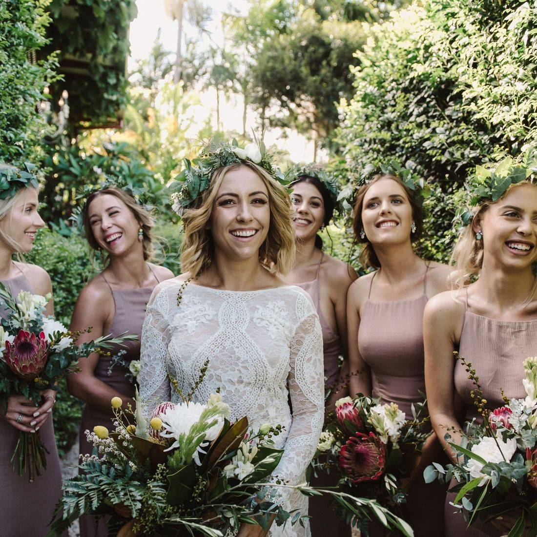 Abby and her beautiful bridesmaids