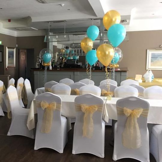 Birthday chair cover hire, Bar 87, Coatbridge