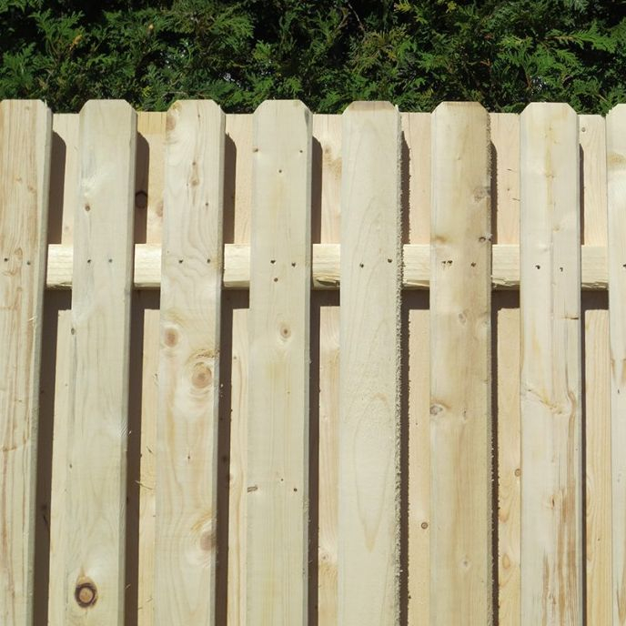 Southern Pine Shadow Box Fence