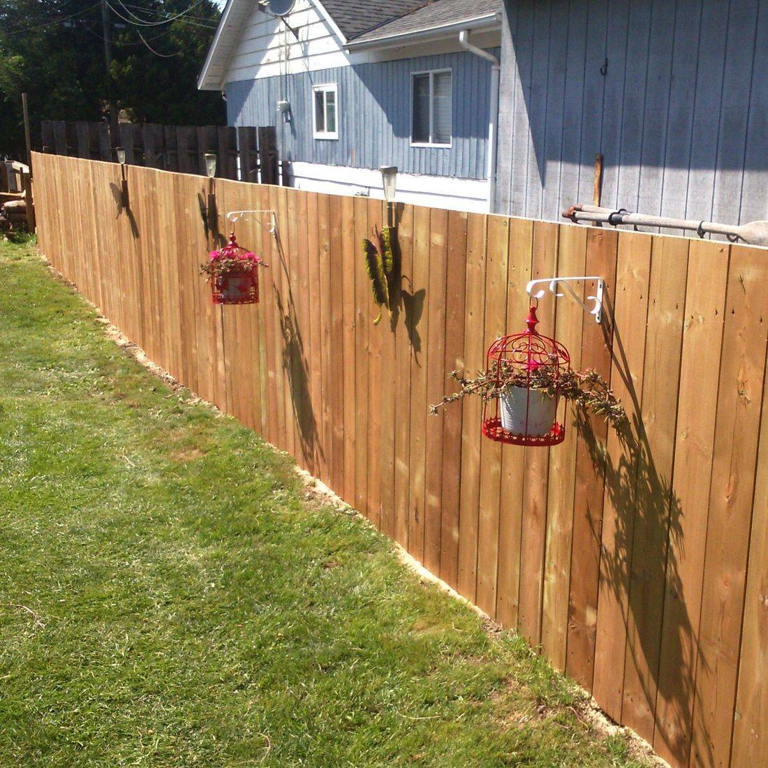 new treated fence