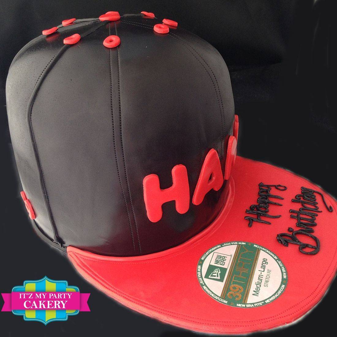 Red Black Hat Carved Dimensional Cake Milwaukee