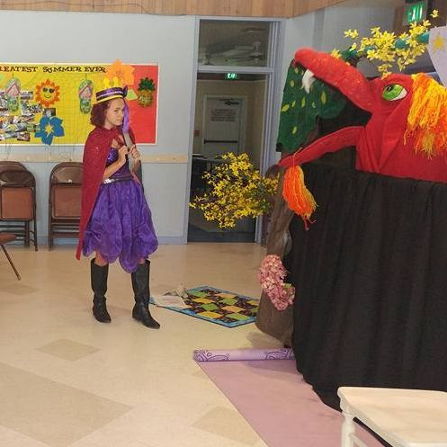 princess rain, dragon, book, preformance, rain, author, children's book, book, fun, event, entertainment, puppet show