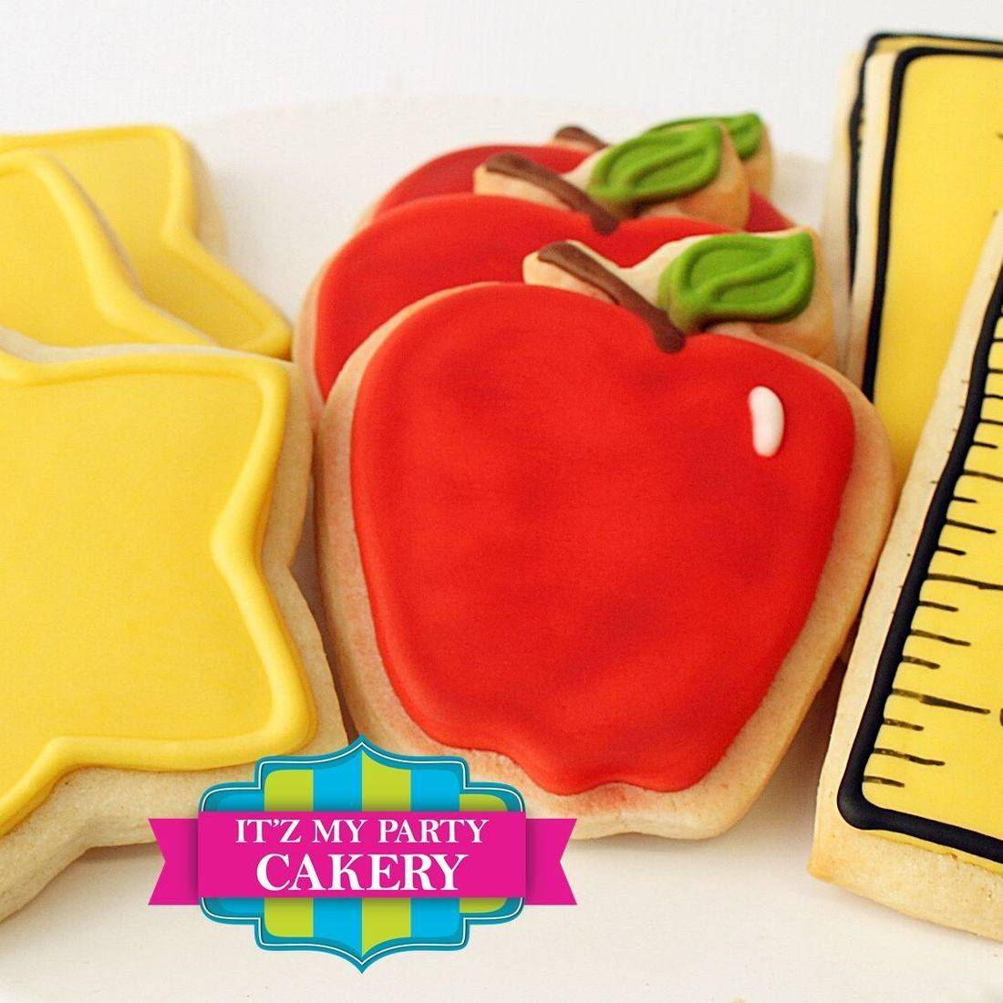 Apple Star Ruler Teacher Cookies Milwaukee