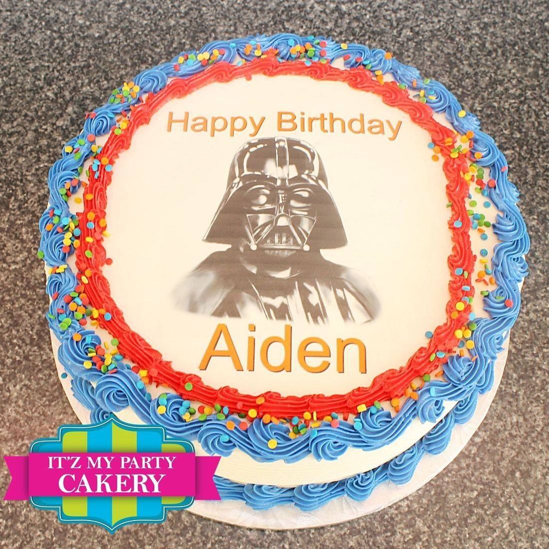 Buttercream cake, Darth Vader, Photo Cake, Edible Images