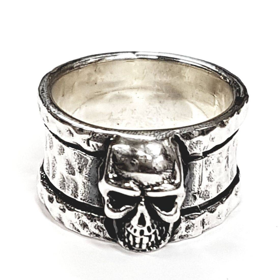 Solid Silver skull rings available at Kazbah online and our Leicester city centre shop