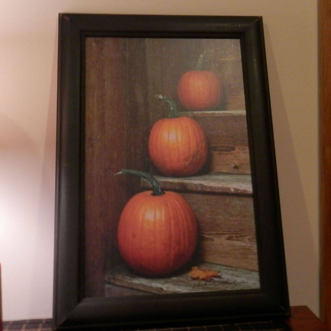 primitive pumpkin framed print