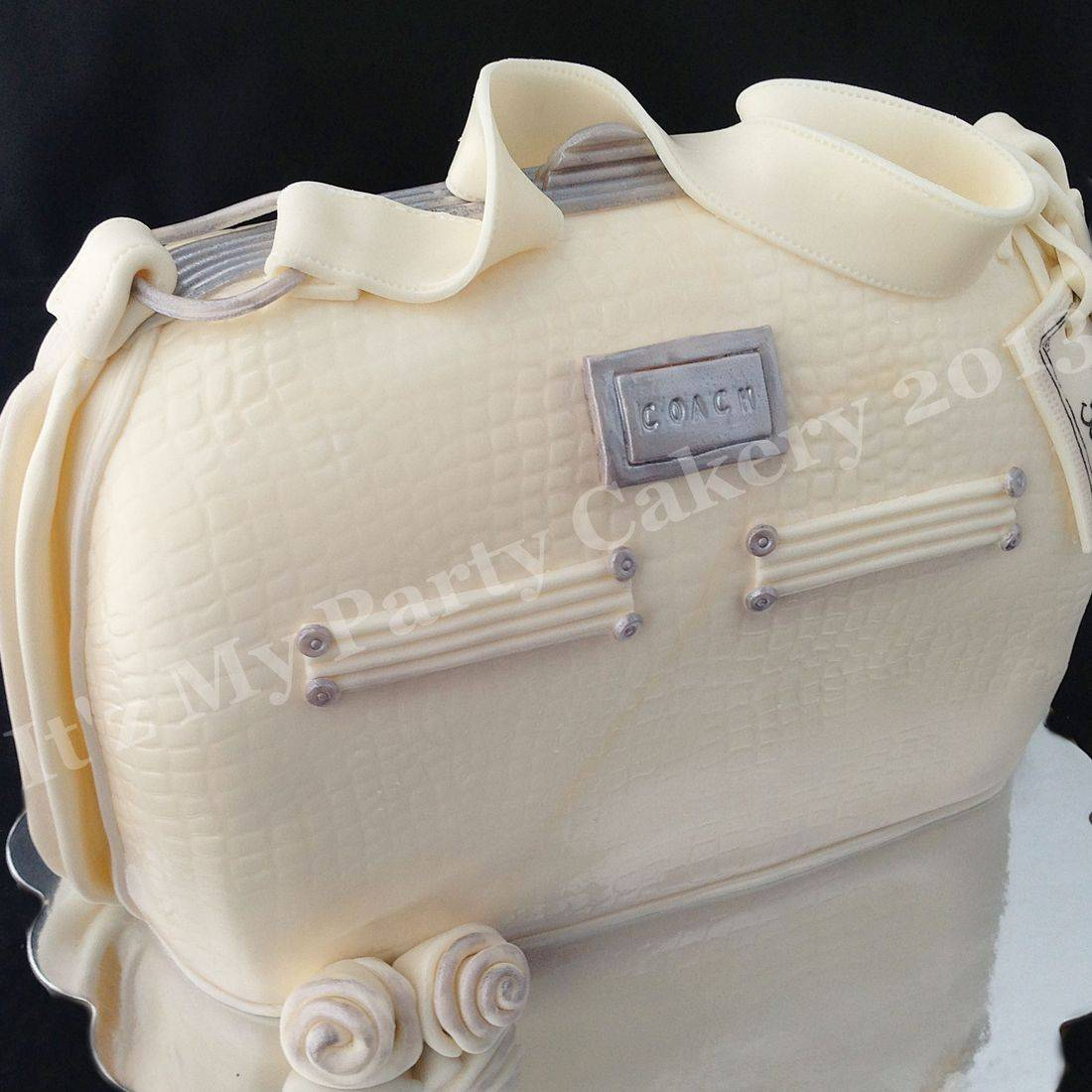 White Coach Purse Carved Dimensional Cake Milwaukee