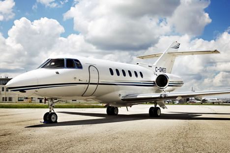 Hawker 850XP, Learjet 45 and the Falcon 200.