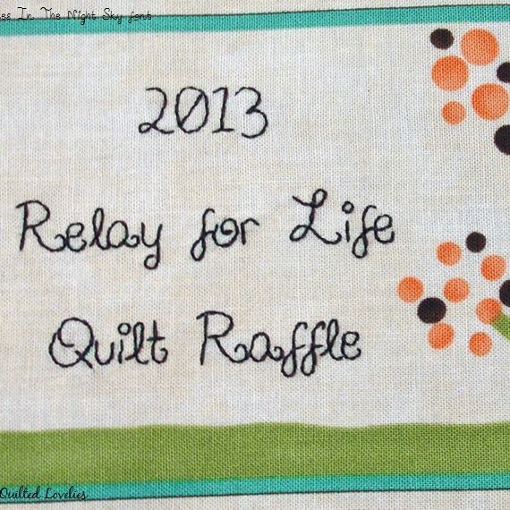 Polka DotTree quilt label