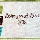 Custom Made Hand Embroidered Quilt Label