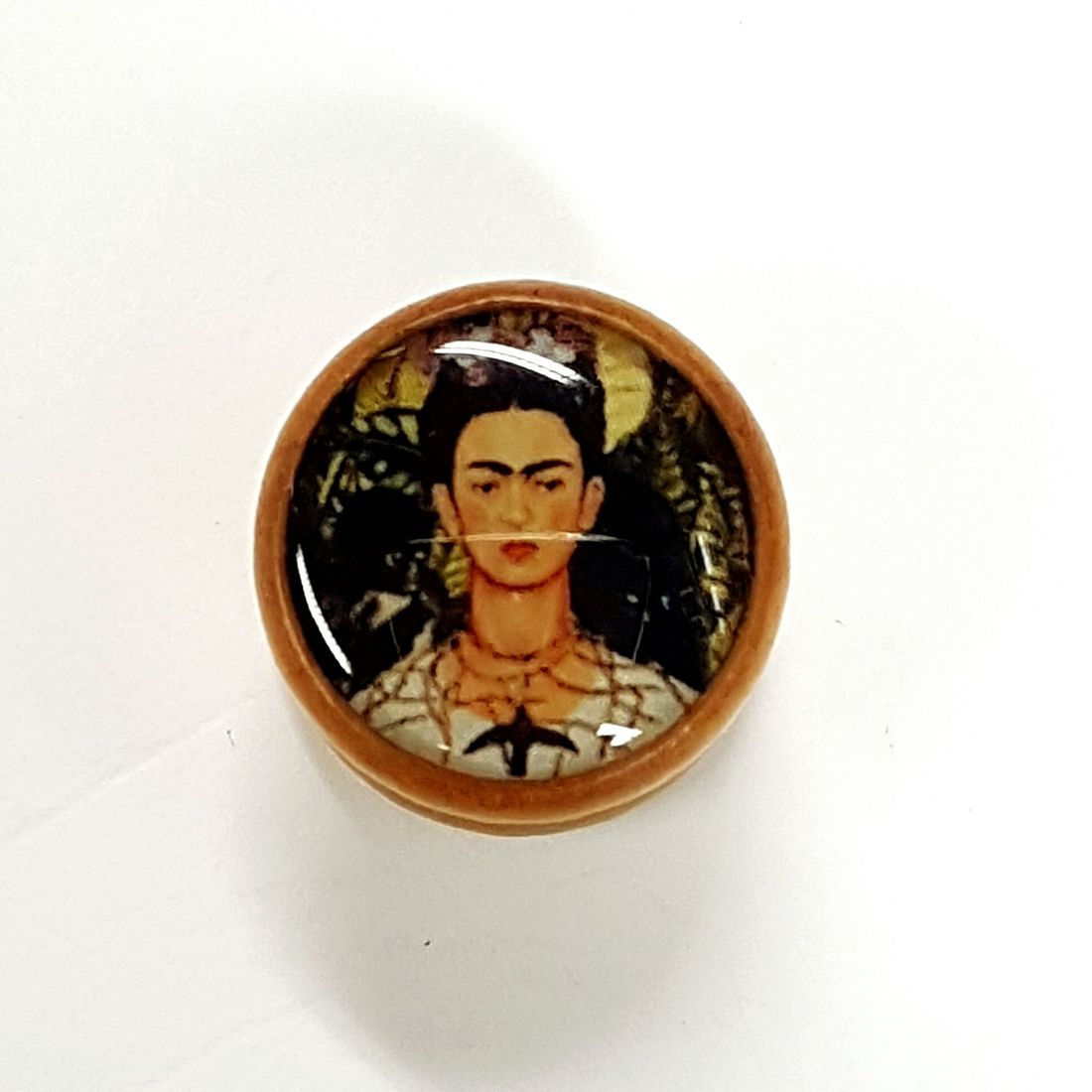 25mm Frida Kahlo Palm  Wood Plug
