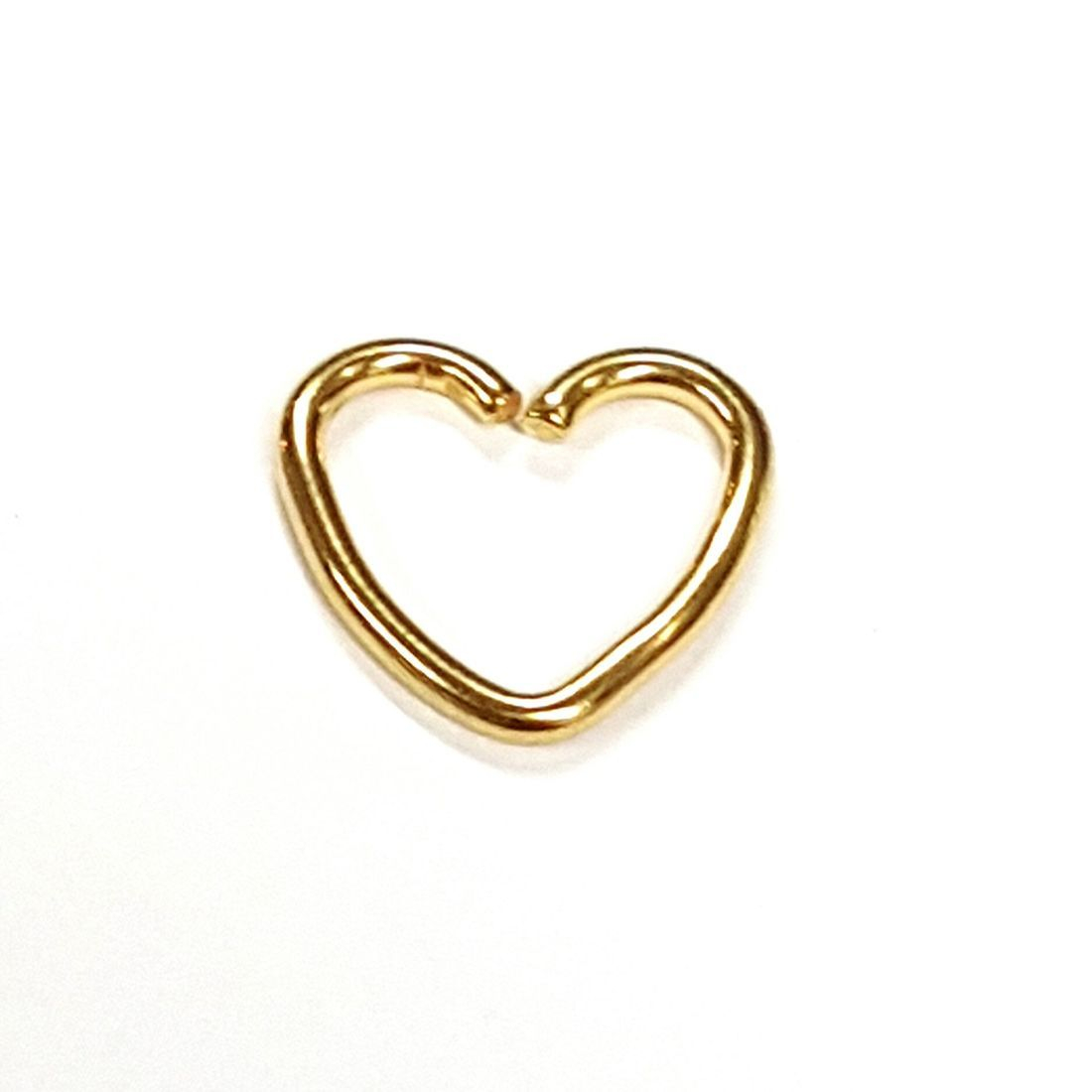 1.2mm x 8mm Gold Heart   available at Kazbah online and our Leicester City Centre Shop