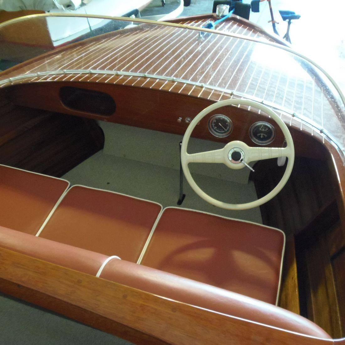 Chris Craft wood boat restoration by Bergersen Boat