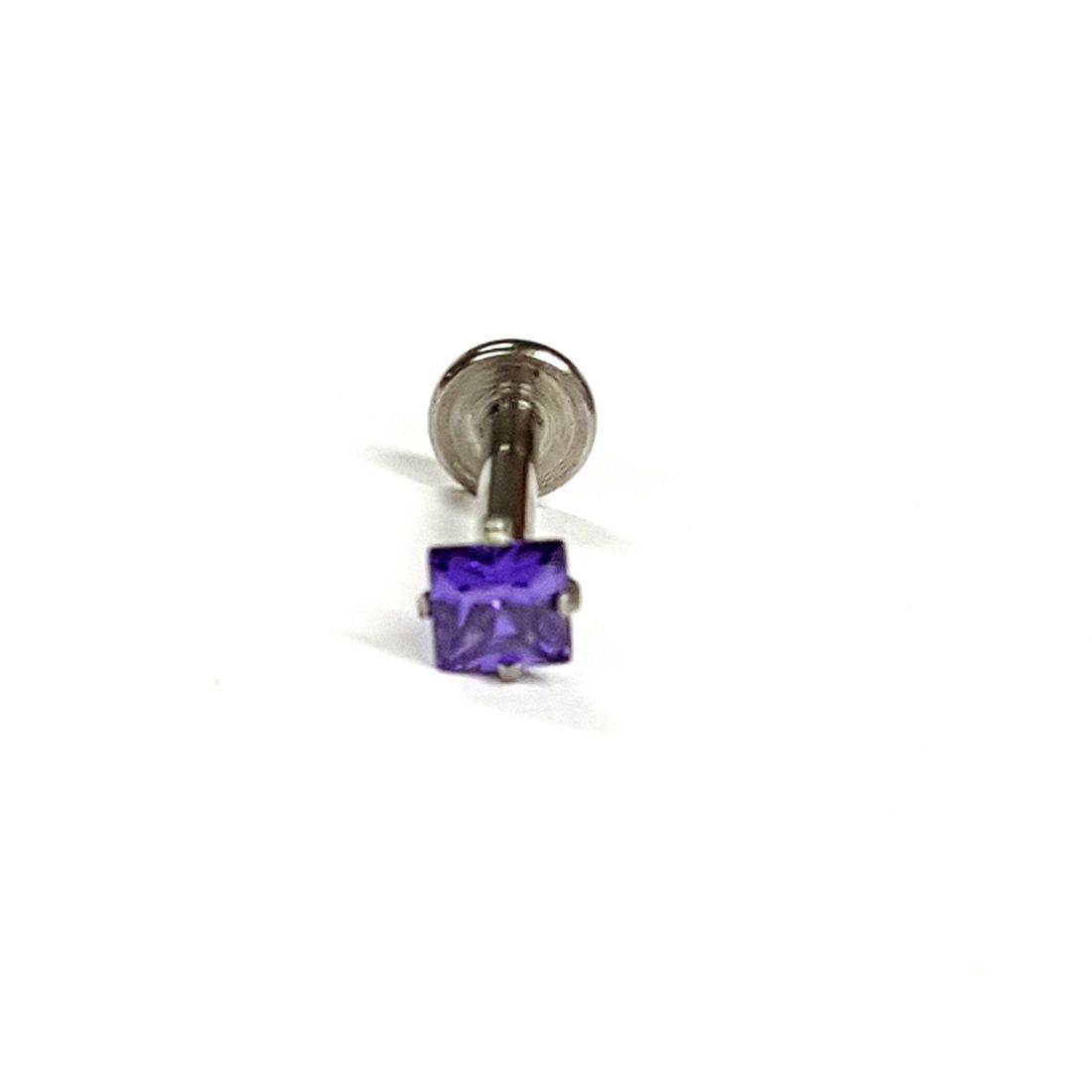 1.2mm x 8mm Amethyst Square Crystal Flatback Bar    available at Kazbah online and our Leicester City Centre Shop