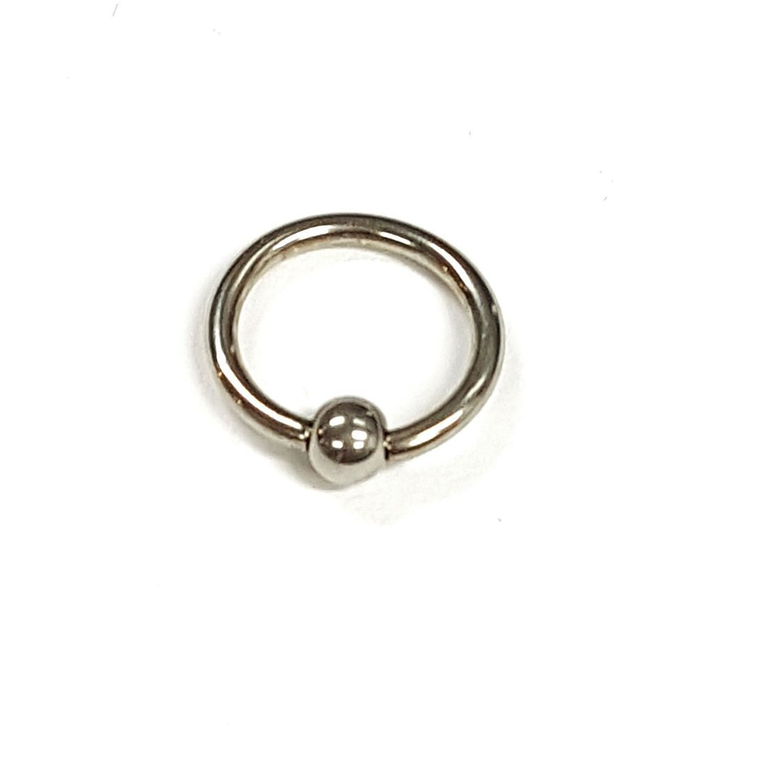 1.2mm x 10mm Silver Ball Closure Ringavailable at kazbah online or our Leicester City Centre Store