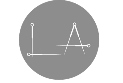 Logo La acupuncture needles grey circle