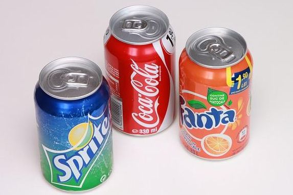 The soft drink packages also include diet soda