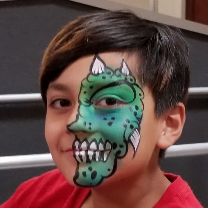 Moster fun face paint party fun for boys