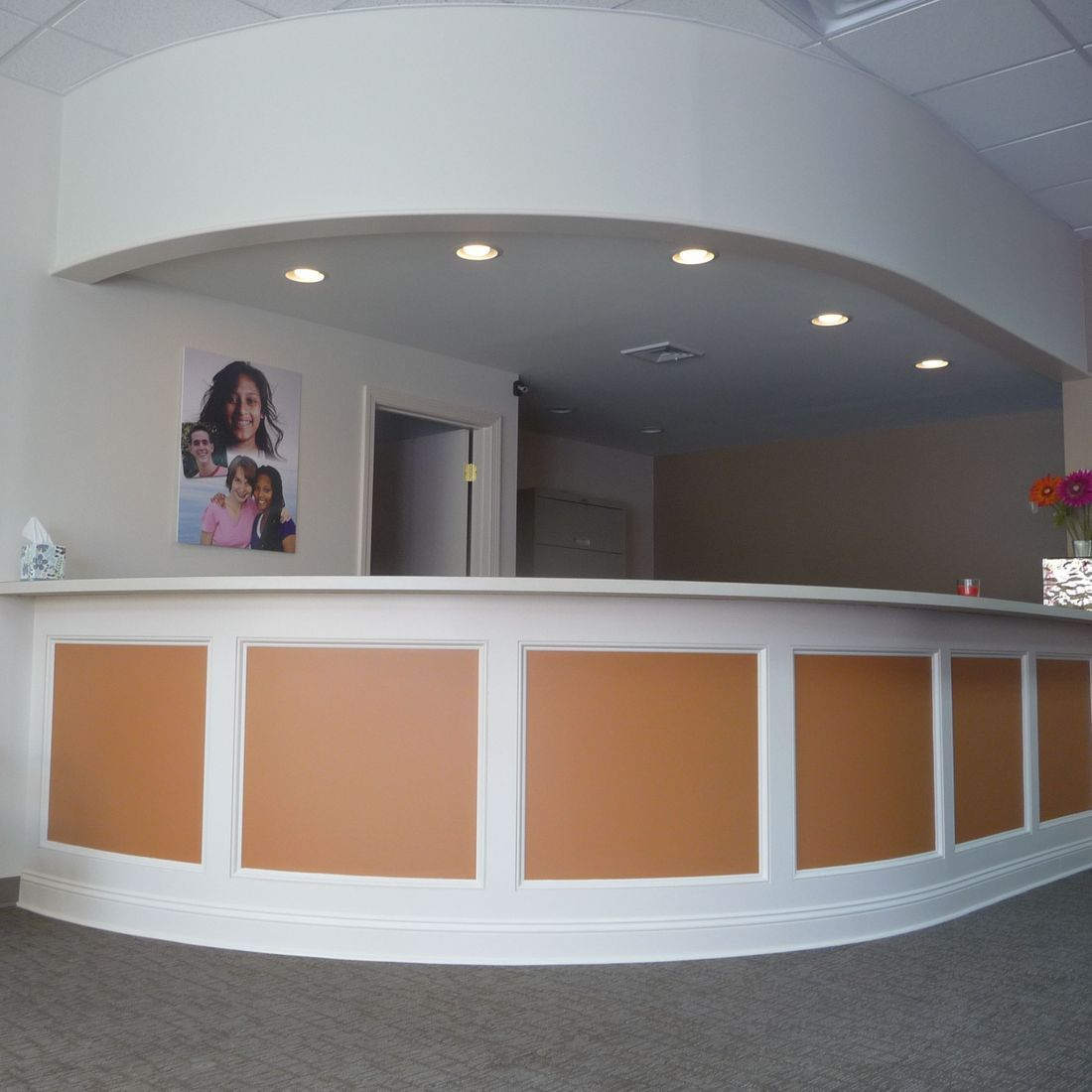 commercial carpentry reception desk