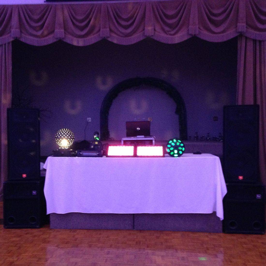 Mr. Productions DJ Service being the Prom DJ at Michelangelos Banquet Hall in Hamilton.