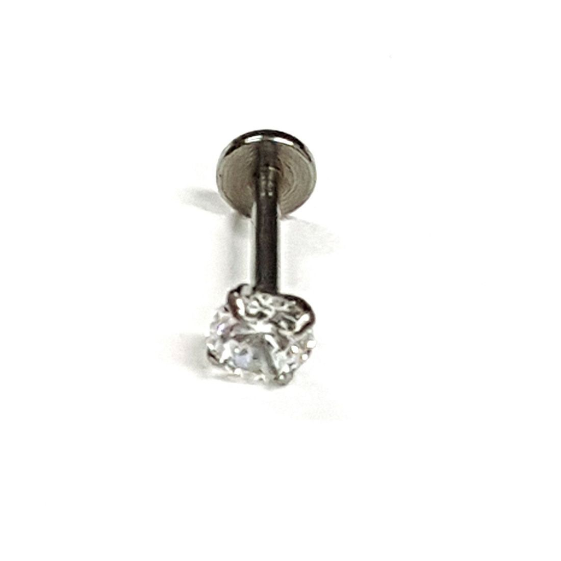 1.2mm x 8mm Internal Thread 5mm Clear Crystal Flat Back Bar   available at Kazbah online and our Leicester City Centre Shop