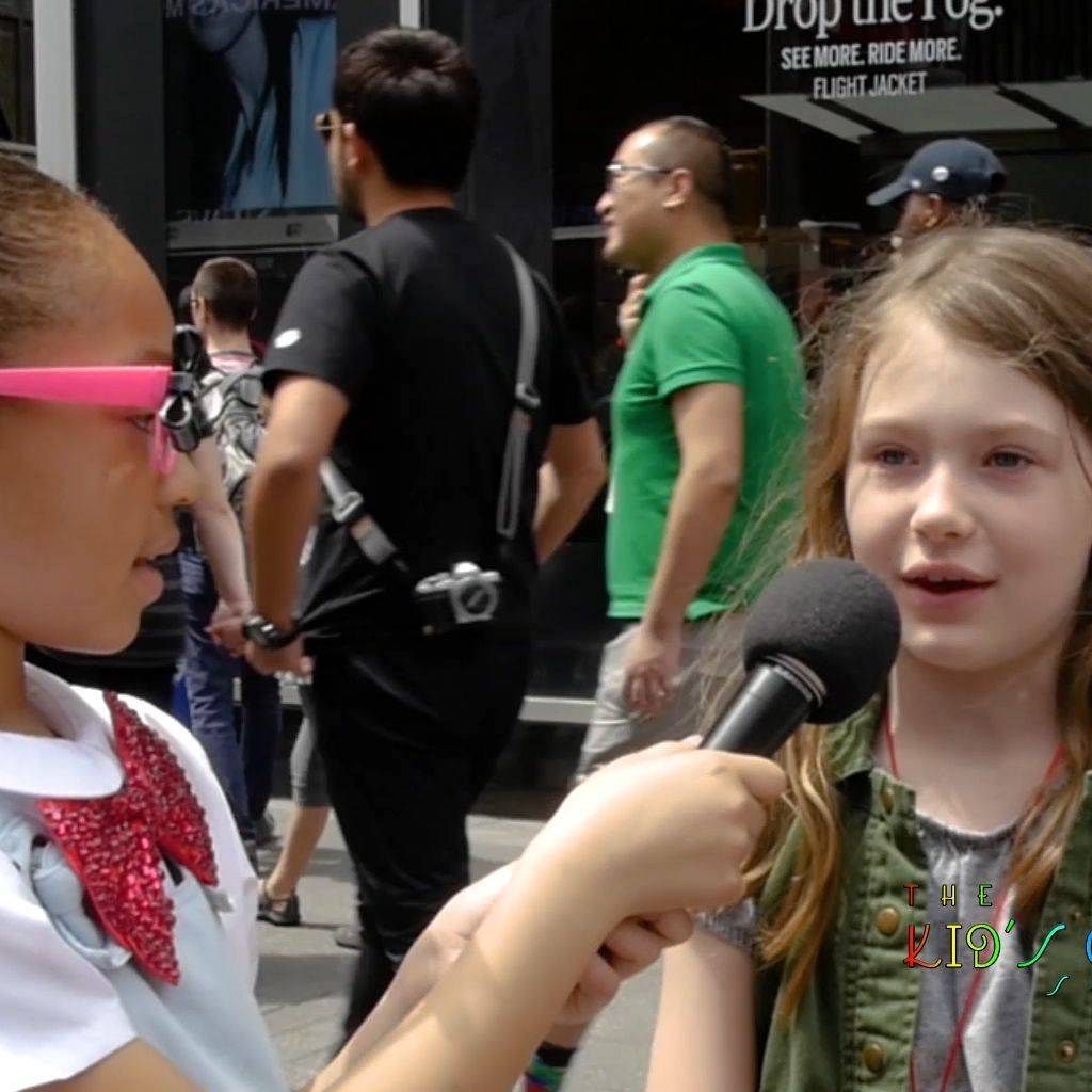children on the streets of NYC interviewing