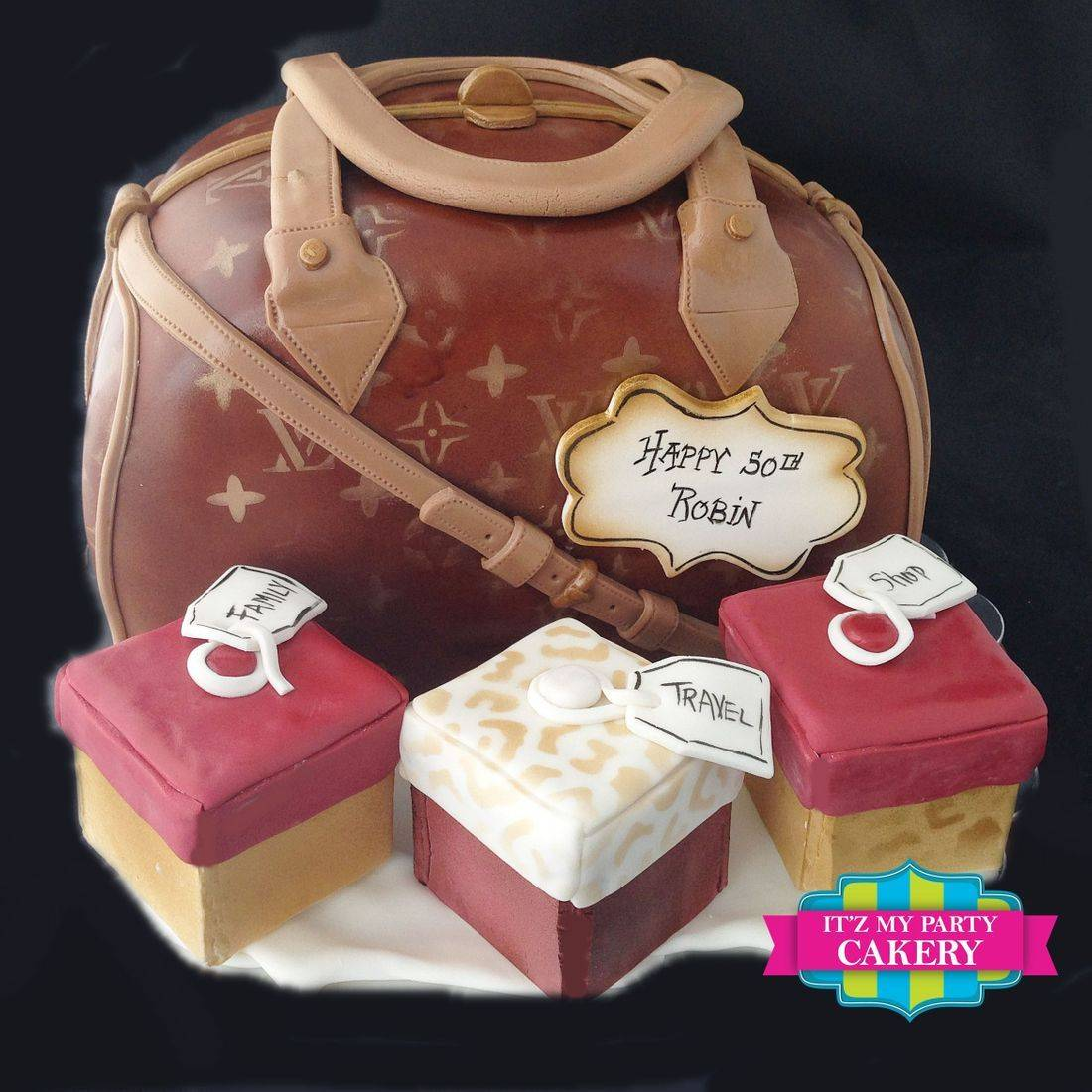 LV Purse Cake Dimensional Cake Milwaukee