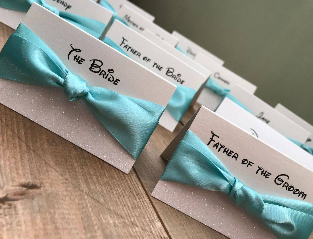 Disney  Themed Wedding Place Names