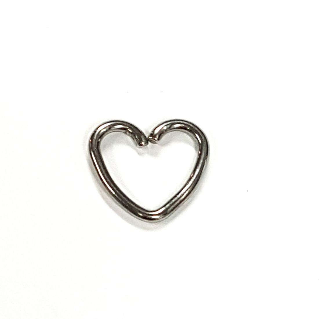 1.2mm x 8mm Silver Heart   available at Kazbah online and our Leicester City Centre Shop