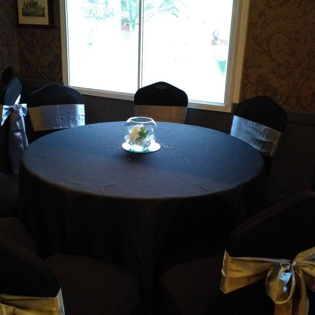 Chair Cover hire for 18th Birthday Party, Clermiston Inn, Edinburgh