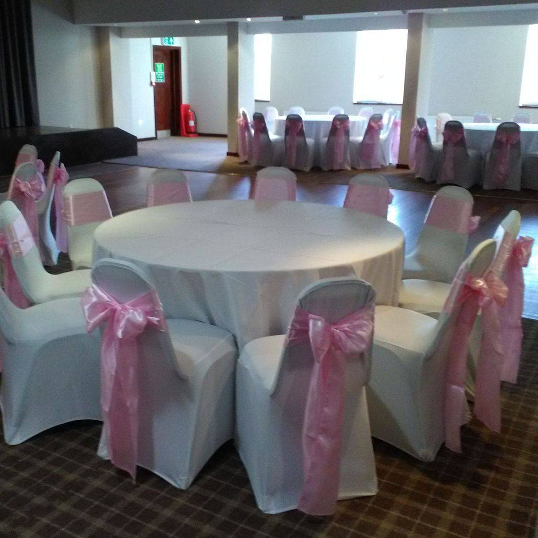 Chair Cover hire for Christening. Giffnock Party Rooms