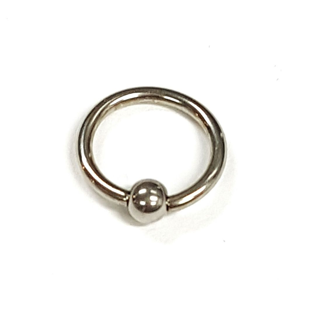 1.2mm x 8mm Silver Ball Closure Ring    available at Kazbah online and our Leicester City Centre Shop