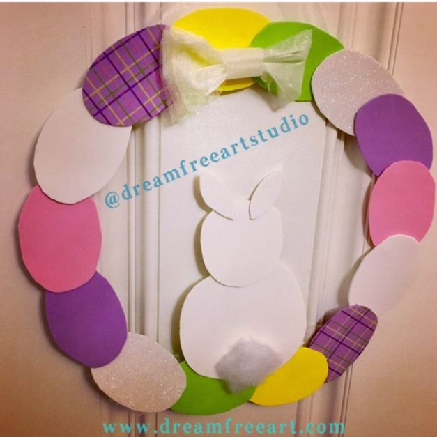 DIY Spring Wreath Art Party Dream Free Art