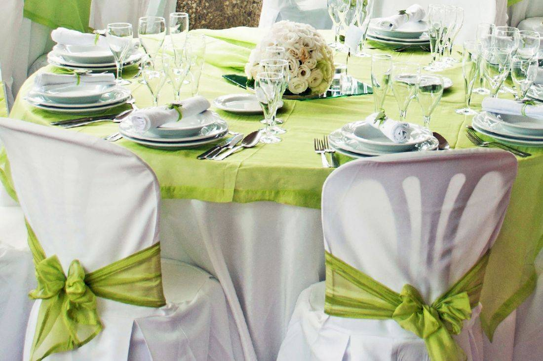 Linens and wedding decorations